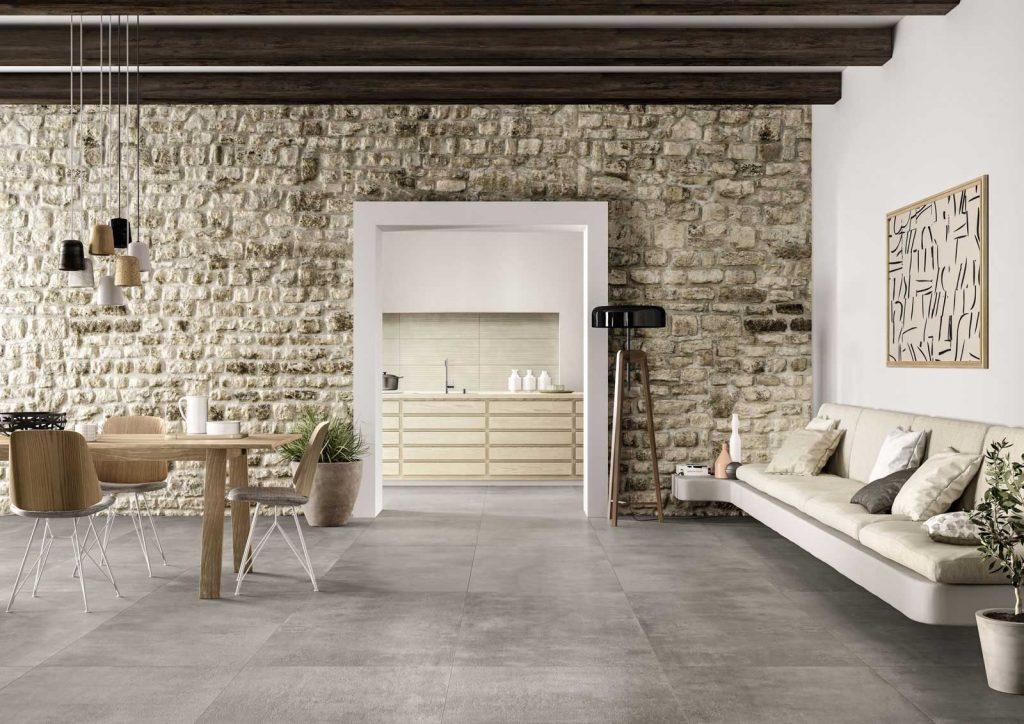 Gres porcellanato effetto cemento lupia pavimenti